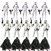 "Lot 3.75"" Star Wars Stormtroopers Darth Vader Clone Trooper Action Figure Toys"