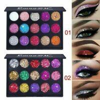 Damen Schimmer Glitter Lidschatten Pulver Palette Matte Kosmetik Make-up Ne C5H2