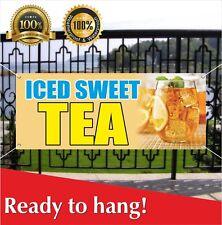Iced Sweet Tea Banner Vinyl / Mesh Banner Sign Many Sizes Carnival Food
