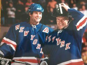 ERIC LINDROS & MARK MESSIER New York Rangers POST 9/11 8X10 PHOTO