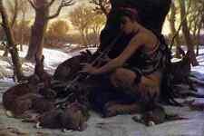 Vedder Elihu Marsyas Enchanting The Hares A4 Print