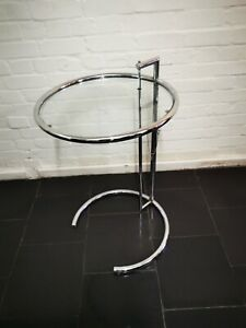 Vintage Art Deco Eileen Gray Adjustable Side Table