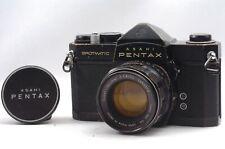 @ Ship in 24 Hrs! @ Rare Black! @ Pentax SP Spotmatic Film SLR Camera 55mm f1.8