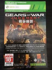 Gears of War Judgment Classic Hammerburst,Marcus,Dom,Anya &Alex Character Skins