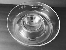 Princess House Round Clear Glass Etched Heritage Chip & Dip Serving Bowl 401