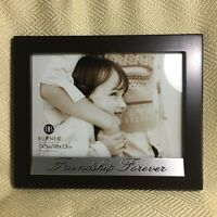 """Burnes Friendship Forever 5""""x 7"""" Photo Picture Frame  Black Wood Look"""