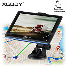 XGODY 718 7 inch Car Truck HGV GPS Navigation BT hands-free Calling 8GB Free Map