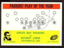 1964 PHILADELPHIA PACKERS PLAY OF THE YEAR CARD NO:84 PP24 NEAR MINT CONDITION