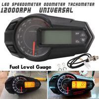 12000RPH Motorcycle Universal LCD Digital Speedometer Tachometer Odometer Gauge
