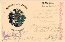 AK Studentika, Bremen, Maritima sei's Panier, Studenten-Wappen, 1910, 12/07