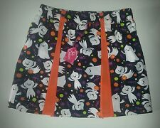 NEW GIRLS SPARKLY PLEATED HALLOWEEN SKIRT. AGE 4-6 EMO. GOTH. FANCY DRESS.
