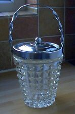 Glass & Chrome Biscuit Barrel, vintage, retro, shabby chic
