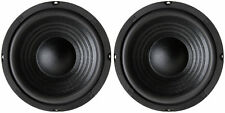 """NEW (2) 6.5"""" Woofer Speakers.Replacement.8 ohm.Home Audio Sound Stereo Pair."""