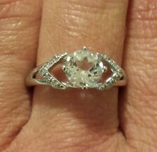 Avon Sterling Silver Genuine White Topaz Ring ~ Size 7 NEW