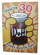Simpsons Duff beer birthday card for age 30 (THIRTY) by Hallmark - 11425750