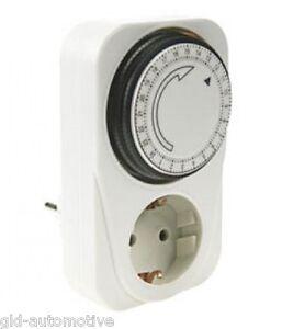 PRESA con TIMER MECCANICO 24 ORE Accendere/Spegnere Elettrodomestici