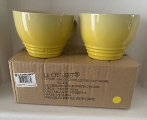 Le Creuset Grand Mugs 400ml -Set Of Two -Soleil (New In Box)