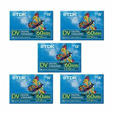 5 TDK Mini DV 60 Camcorder Tapes SP60 - LP90