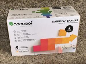 Nanoleaf Canvas Smarter Starter Kit w/ 9 Light Panel Squares - NL29-0003SW-9PK