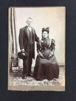 Victorian Cabinet Card Photo: Couple: Watson: London: Top Hat