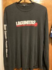 Lagunitas Brewing 2Xl Cali Beer Speaks People Mumble L/Sleeve Black T Shirt