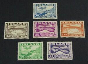 nystamps Iceland Stamp # C15-C20 Mint OG H $63   L23y452