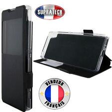 Etui Rabattable Noir Avec Ouverture Ecran pour Sony Xperia XA Ultra