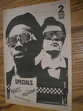the specials, madness, 2 tone tour 1979 advert, poster size press advert