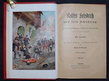 Kaiser Friedrich und sein Schützling A. Frank - 1895 - Chromo-Lithographie