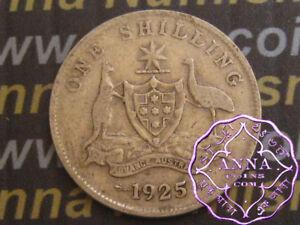Australia 1925 George V Shilling X1, Average Circulated Condition