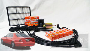 MITSUBISHI MAGNA TF TH TJ TL TW V6 IGNITION LEADS SPARK AIR OIL FUEL SERVICE KIT