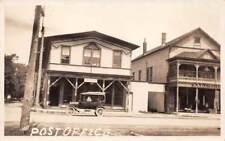 DE RUYTER, MADISON CO, NY ~ POST OFFICE & AUTO ~ REAL PHOTO PC ~ used 1932