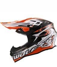Wulfsport Adult Sceptre Advance Orange Motocross off Road ATV Quad Helmet XS