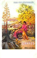 Paris - Lyon Mediterranee Cannes Railroad Poster Hugo d'Alési F Postcard