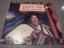 """Queen Ida & Her Zydeco Band """"Caught in The Act"""" CAJUN AUTOGRAPHED LP"""