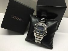 BLUE Citizen Independent C351 Ana-Digi 1481010 Chrono Digital LCD watch uhr MOT