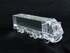 Crystal Semi Truck Display Figurine Blank Ready to Engraved Award Paper Weight
