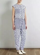 BNWT SOMERSET by ALICE TEMPERLEY Rope Print Jumpsuit Blue White Size 6