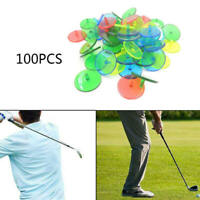 100x Plastic Golf Ball Mark Position Markers Assorted Color Golf Ball Marker qwe