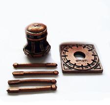 ARGANO VERTICALE + BASE BARRA 18mm METALLO BRONZATO MODELLISMO NAVALE MATI 4117