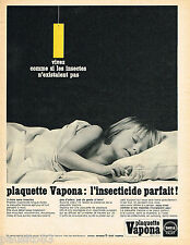 PUBLICITE ADVERTISING 055  1967  VAPONA  plaquettes insecticide SHELL