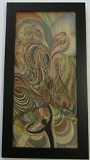 VINTAGE MID CENTURY MODERN PAINTING ABSTRACT EXPRESSIONISM CUBISM GEOMETRIC OLD