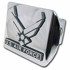 Air Force Wings Chrome on Chrome Trailer Hitch Cover High Quality Made in USA