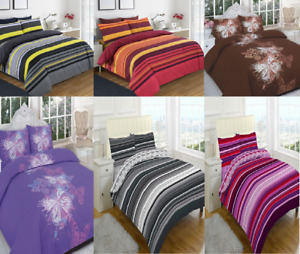 Modern Duvet Cover Set With Matching Pillow Cases All UK Sizes