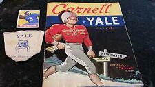 1949 Yale v Cornel Football Program - Levi Jackson 1st Black Player 1948 Card