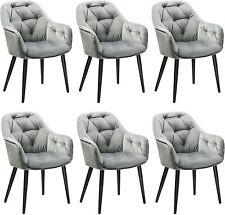 2,4, 6er Sessel Esszimmerstühle Wohnzimmerstuhl Mit Rückenlehne Samt Grau Neu
