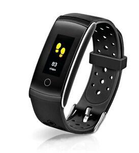 Fitnessuhr mit XL Farbdisplay Tracker Pulsmesser Fitness Blutdruck Wasserdicht