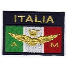 [Patch] BANDIERA AERONAUTICA MILITARE ITALIA cm 7,5x5 toppa ricamata ricamo -387