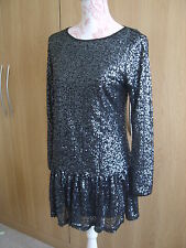 Be Beau Beautiful Dress Size 10 Colour Black With Sequins Fully Lined