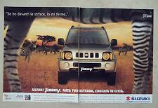 C460-Advertising Pubblicità-1999- SUZUKI JIMNY FUORISTRADA IN CITTA'